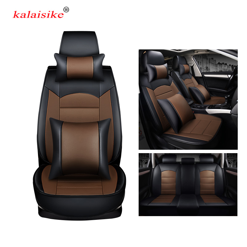 kalaisike leather universal car seat covers for Skoda all models rapid superb yeti kodiaq octavia fabia auto styling accessories