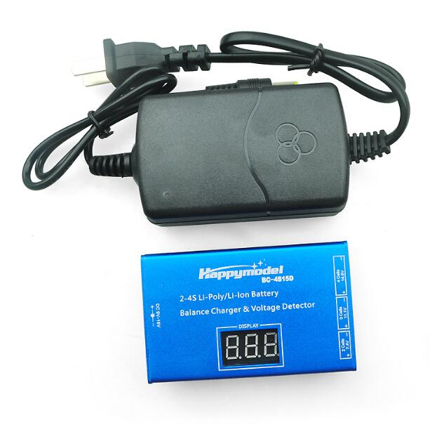 Model aircraft lithium battery charger BC4S15D 2S / 3S / 4S charge display adapter tcb remote control aircraft model aircraft lithium battery lion 11 1v 3500mah 25c 3s1p model aircraft battery