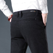 Spring style mens casual pants middle-aged cotton trousers business straight long