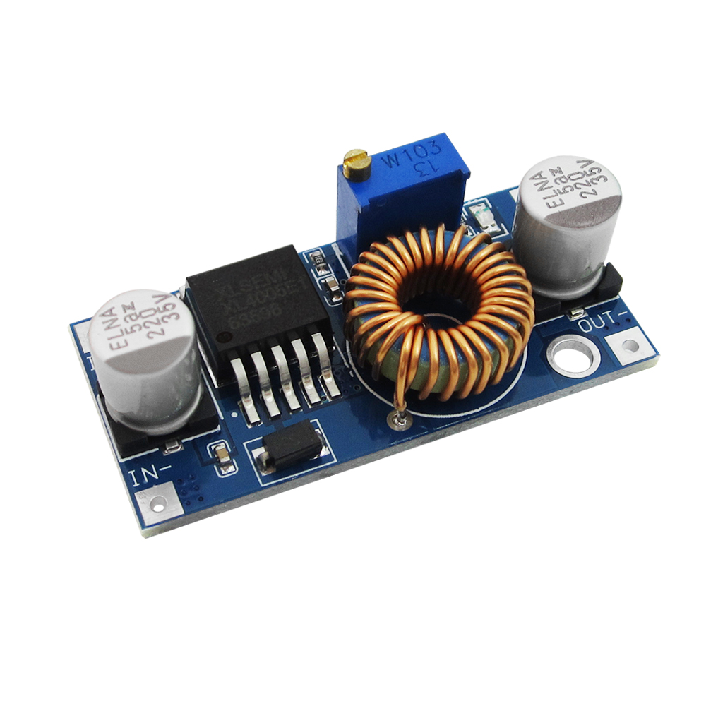 5A DC-DC Step-Down Buck XL4005 Adjustable Power Supply Module DC Step Down Voltage Regulator Board LED Driver 5-32V to 0.8-24V 5pcs mp1584 dc dc 3a buck converter adjustable step down regulator power supply module