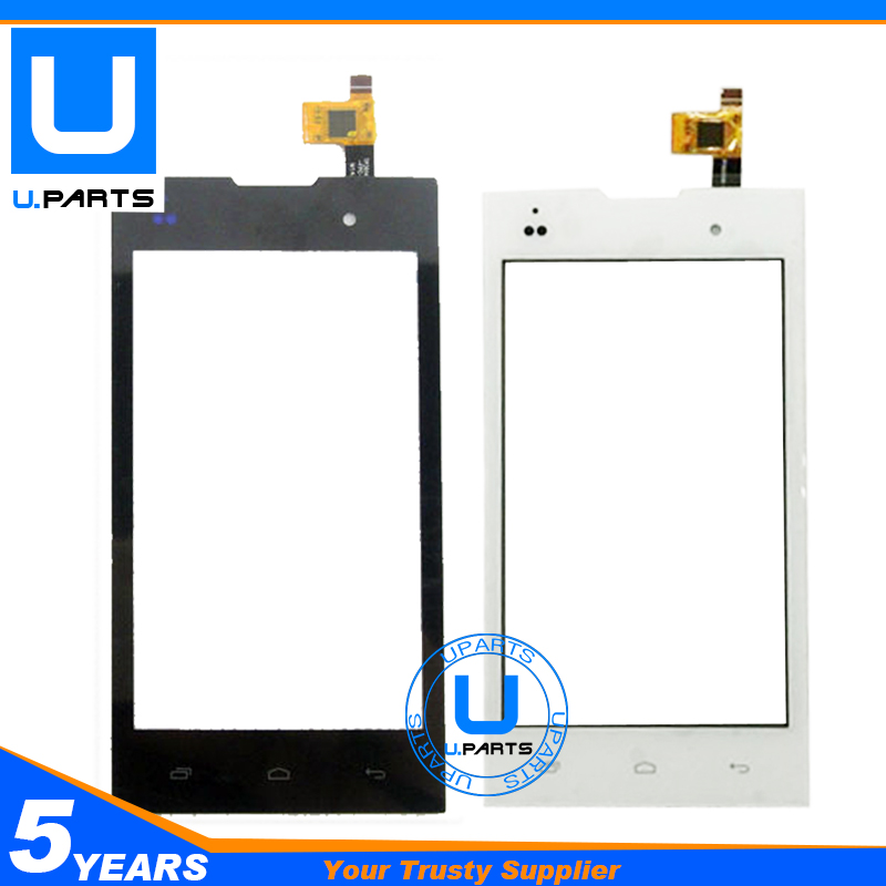 For Fly IQ4418 Era Style 4 IQ 4418 Touch Screen With Digitizer Panel Replacement Black White Color 1PC/Lot