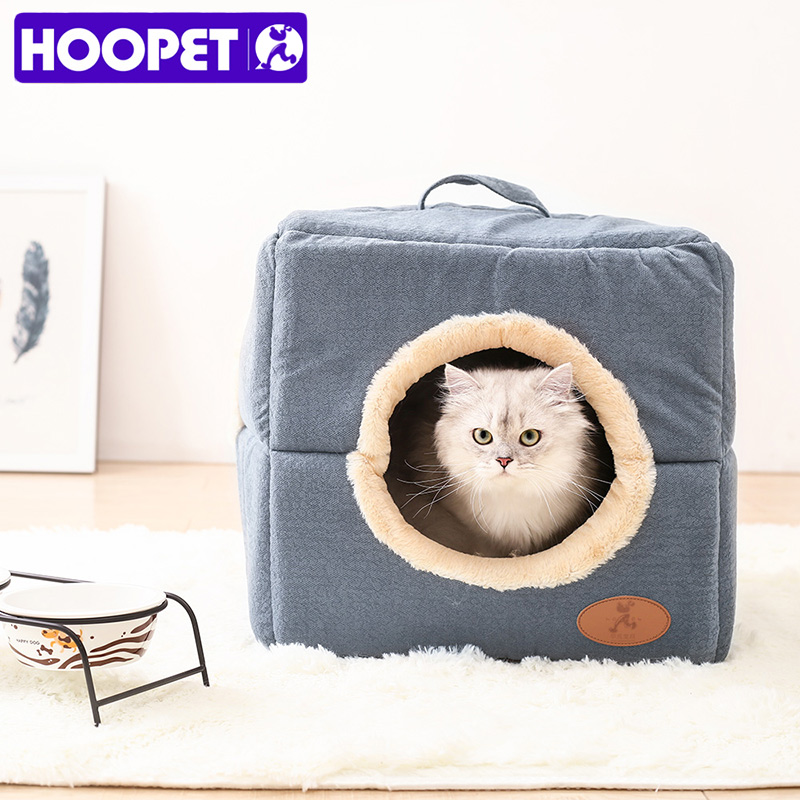 HOOPET Pet Dog Bed House Soft Material Pet Nest Cat Puppy Detachable Four Season
