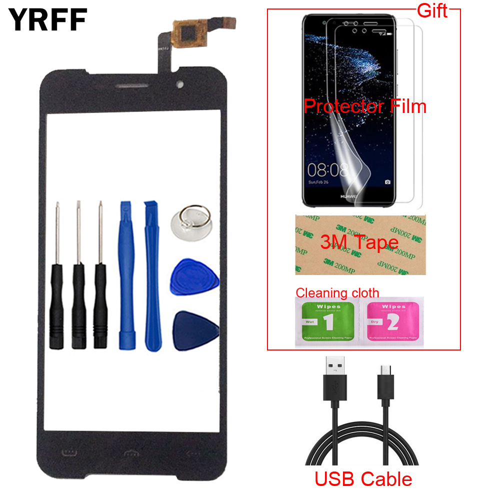 Mobile TouchScreen Touch Glass Front Touch For Homtom HT37 Touch Screen Digitizer Panel Sensor + Free Protector Film Tape
