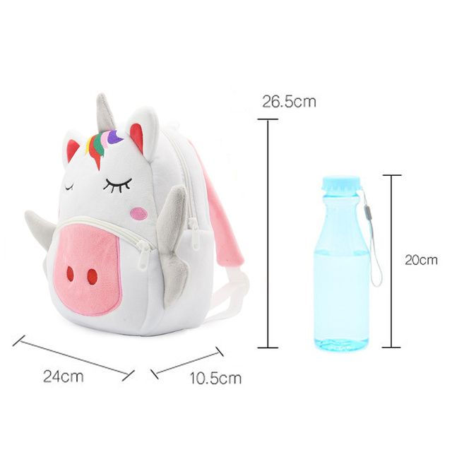 Cartoon Rainbow Unicorn Kids School Bags for Girls Soft Plush Bag Kindergarten Toddler Children Backpack Boys 5