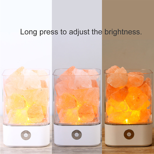 USB Crystal Light natural himalayan salt lamp+Air Purifier