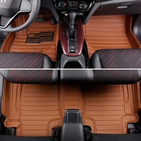 3pcs/lot car pvc floor pad mats All surrounded by waterproof double bead leather cover for honda xrv
