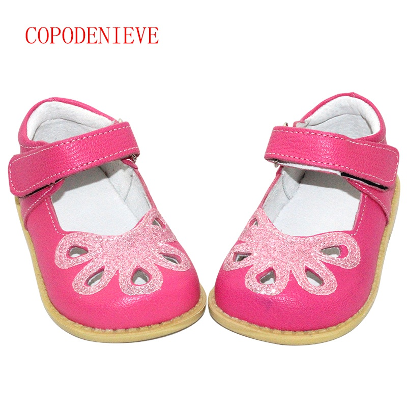 COPODENIEVE Children Little Girls Dress Shoes Girls Princess Shoes Bright Petals Shoes Soft Pretty Comfortable For Kids Girls