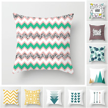 Fuwatacchi Candy Colors Geometric Cushion Covers Arrow Wave Endless Dot Pillow Cover for Home Chair Decoration Pillowcases 45*45