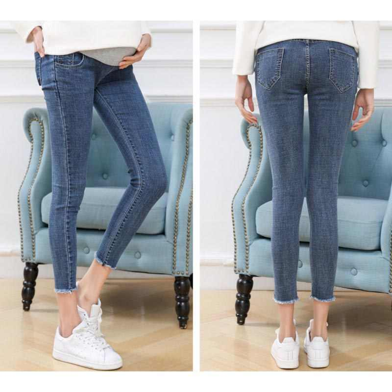 e2b898484a9b8 ... Maternity Clothes Elastic Soft Maternity Jeans Skinny Pregnancy Pants  Lovely Trousers for Pregnant Women Spring Summer ...