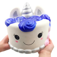 Jumbo Blue Rose Cake Stress Reliever Scented Super Slow Rising Kids Toy Rising Stress Reliever Toys for Children