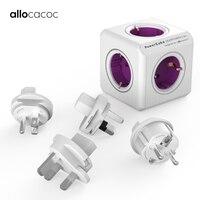 Allocacoc USB travel Extension Adapter Smart Home electric plug PowerCube Socket EU UK US CN AU Plug power strip Multi Switched