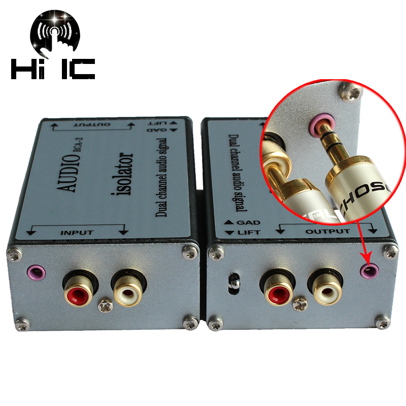 Dual Channel Audio Signal Isolator Transformers Audio Filter Isolation Transformer Eliminate Acoustic Current Noise