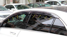 Chrome Stripe Window Visor Sun Defelctor Guard For Benz GLE Coupe C292 2015 2016 sun 2015 xs