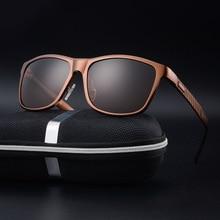 Brand Unisex Aluminum Square Men's Polarized Mirror Sun Glasses Female Eyewears Accessories Sunglasses For men drive oculos
