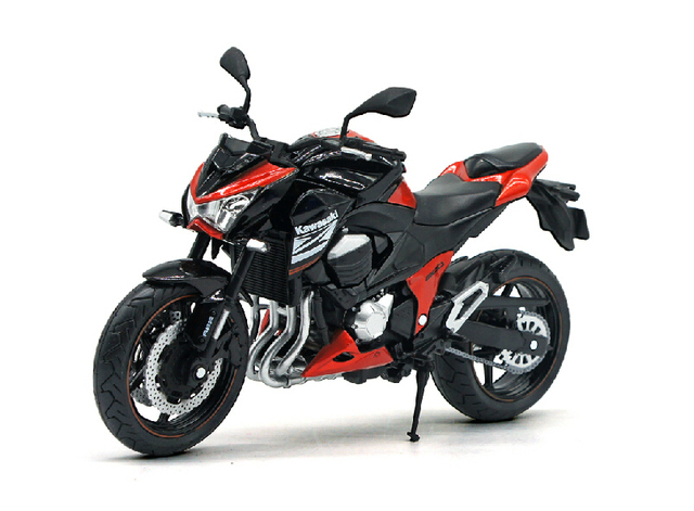 Kawasaki Z800 Motorcycle Model Automobile Race Toy Gift Artificial Alloy Car Models