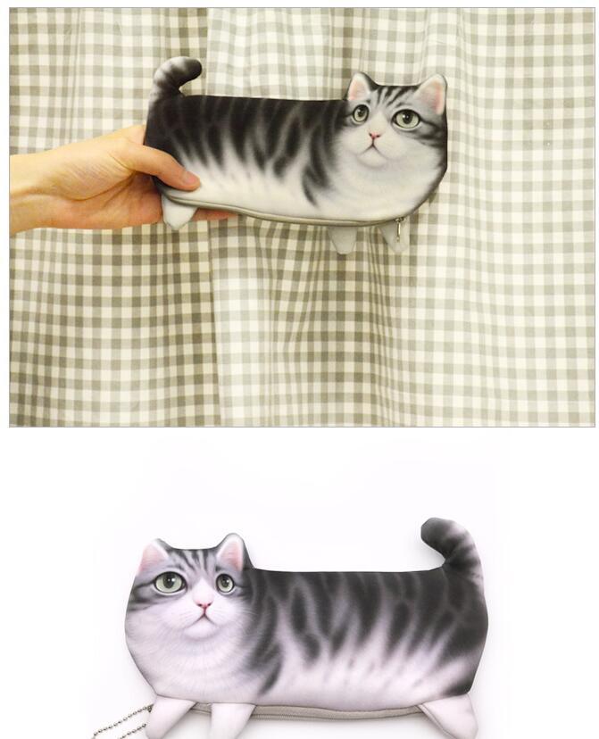 600pc Cute Cat Face Printed Zipper Coin Purses For Kids Students Pencil Case Cartoon Wallet Bag Coin Pouch Children Purse Holder