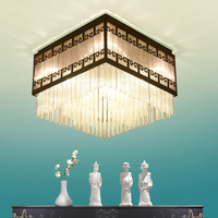 Chinese style crystal retro ceiling lamps rectangle ceiling lamp living room bedroom model room lamp ZA628 ZL108