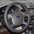 Black Artificial Leather DIY Hand-stitched Steering Wheel Cover for Mondeo 2007-2012 Mk4