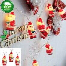 Водонепроницаемый 1-4 м 40 светодиодный праздничный светильник Рождественская елка Снежный Санта Клаус светодиодный Сказочный свет для помещений рождественские вечерние гирлянды для свадьбы PD031