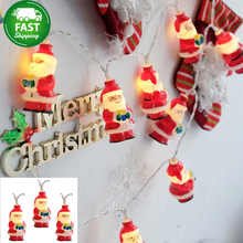 Waterproof 1-4M 40LED Holiday Lighting Christmas Tree Snow Santa Claus Led Fairy Lights Indoor Xmas Party Wedding Garland PD031