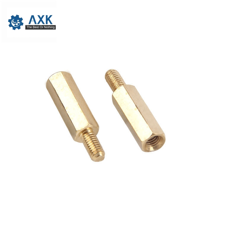 10/20Pcs M2*L+3mm M2.5/M3/<font><b>M4</b></font>*L+6mm Hex <font><b>Brass</b></font> Spacing Screws Threaded Pillar PCB Computer PC Motherboard <font><b>StandOff</b></font> Spacer image
