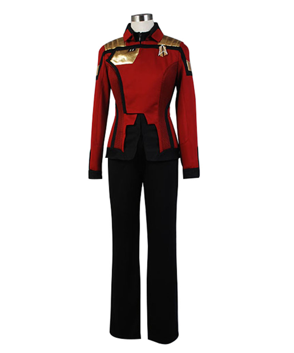 Star Trek Online Admiral Kostum Unisex Uniform Full Set Cosplay Kostum Karneval cosplay costume for women men halloween Sets