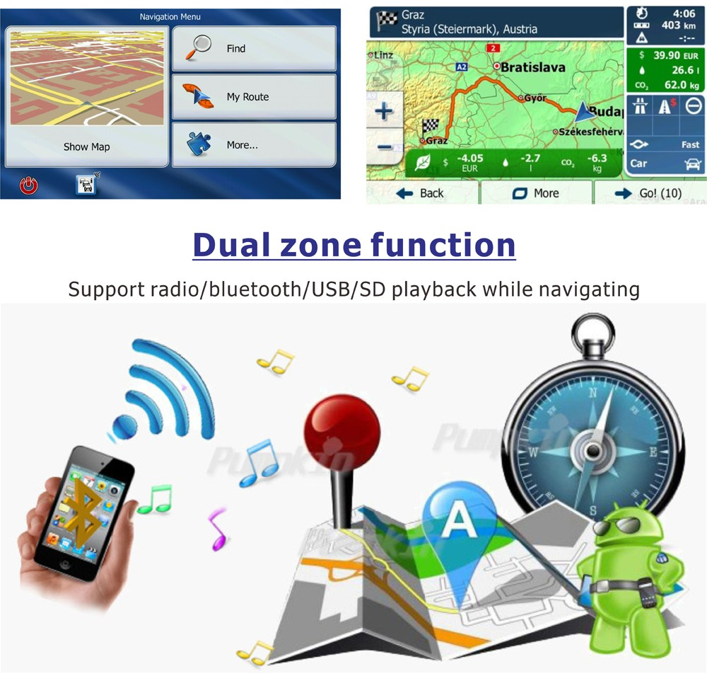 7 inch Capacitive Touch Screen Android 1 DIN Universal GPS Navigation Car Radio Stereo15