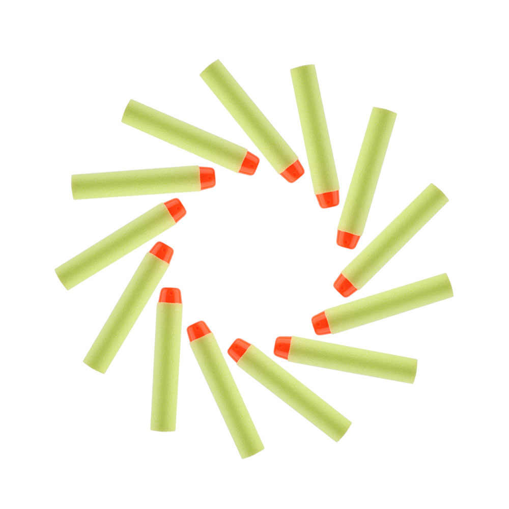 100 stks/partij Refill Darts Voor Nerf Kogels Zachte Holle Gat Hoofd 7.2 cm Refill Darts Speelgoed Pistool Kogels Blasters Kids guns Accessoires