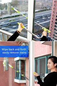 Image 3 - Hot Upgraded Telescopic High rise Window Cleaning Glass Cleaner Brush For Washing Window Dust Brush Household cleaning tools