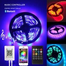Bluetooth Music LED Strip lights 5M Led Lightig Waterproof DC 12V SMD 3528 RGB Strip lights for Outdoor Home Bedroom Bar Decor
