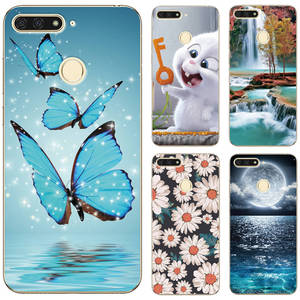 Case For Huawei Honor 7A Pro Phone Back Cover Cute Animal Scenery Patterned