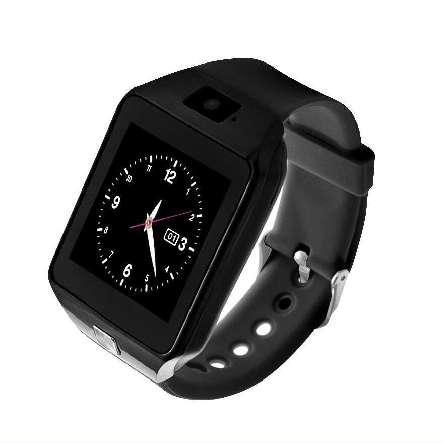 Самые дешевые DZ09 Bluetooth Смарт-часы для мужчин Интеллектуальные цифровые спортивные Смарт-часы Поддержка SIM TF карты напоминание о сообщениях дропшиппинг - Цвет: black Kids Version