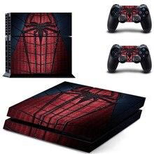 Винил PS4 кожи Человек-паук colorskin Наклейка Обложка для Sony Play Station 4 защитная наклейка 2 контроллера кожи и консоли стикер