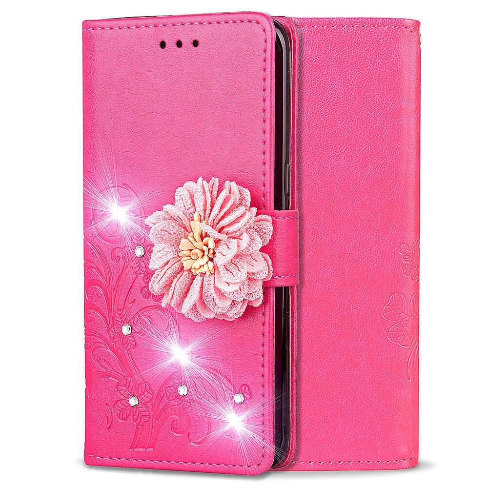 Купить Чехол для samsung A70 с крышкой Роскошный кожаный кошелек Lucky Clover узор блестящая открытка с изображениями цветов чехол для смартфона samsung Galaxy A70 на Алиэкспресс