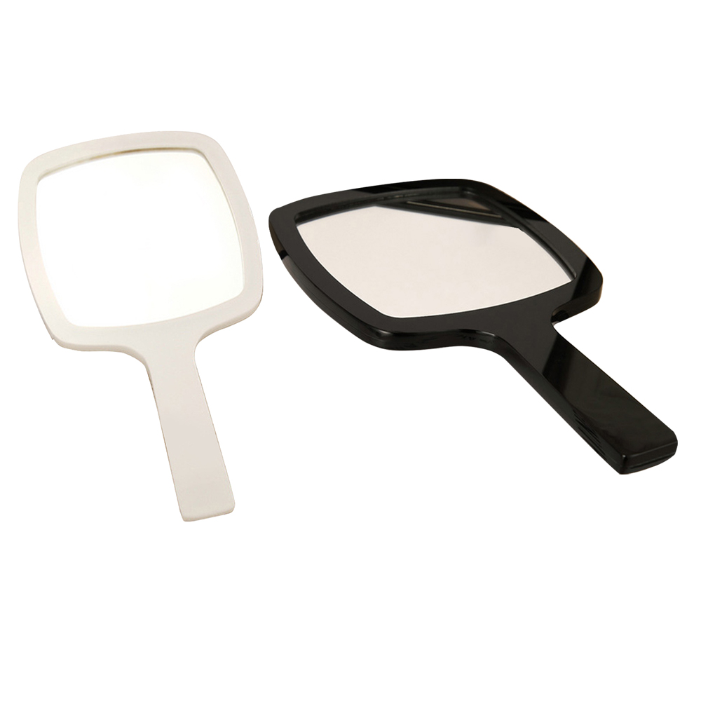 Acrylic Handheld Mirror All-round Makeup Mirror 4.6* 4.5 Inches Silver-plated Cosmetic Mirror Stand Magnifier Mirror Home Decor