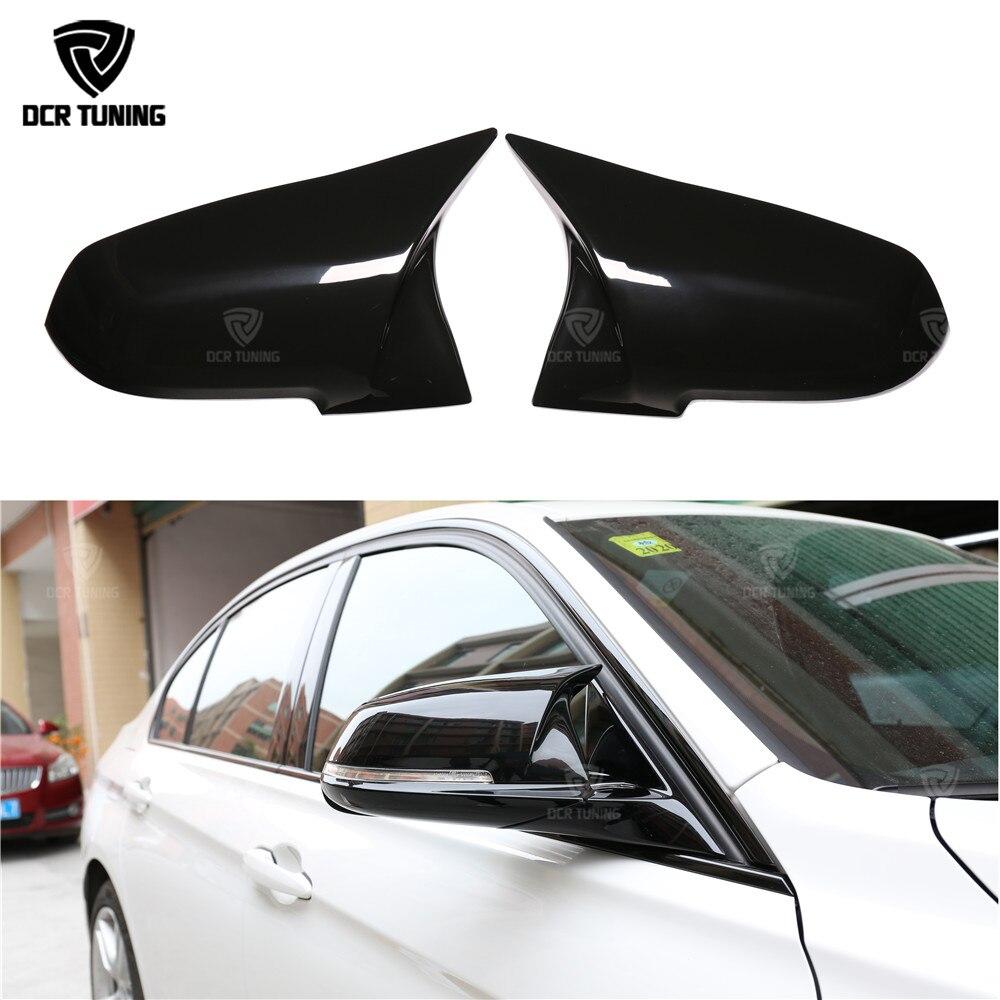 For BMW 1 2 3 4 X Series Carbon Fiber Rear View Mirror Cover Gloss black F20 F21 F22 F23 F30 F31 F32 F33 F36 X1 E84 M3 M4 Look все цены