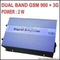 Alto ganho 3000sq metros 2 W GSM 900 IMPULSIONADOR 3G 2100 MHZ BANDAS DUPLAS GSM + 3G repetidor, 3G booster, WCDMA repetidor 3G amplificador DE SINAL