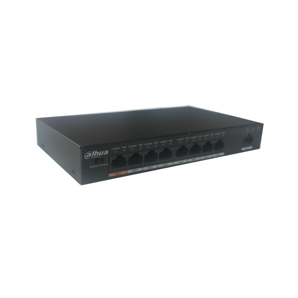 Image 3 - Dahua 8 ports POE switch S1500C 8ET1ET DPWR IEEE802.3af IEEE802.3at Hi PoE 1*10/100Mbps 8*10/100 Mbps DH S1500C 8ET1ET DPWR-in Transmission & Cables from Security & Protection