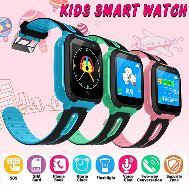 S4 smart watch Anti-lost Essential for Kids Watches LED Color Screen Alarm clock Positioning Smart Children Watch Make call