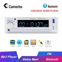 Camecho 1 Din Car Radio 12 V Autoradio Bluetooth MP3 Radio Player Radio Coche FM/USB/SD Telecomando controllo Autoestereo Audio Stereo
