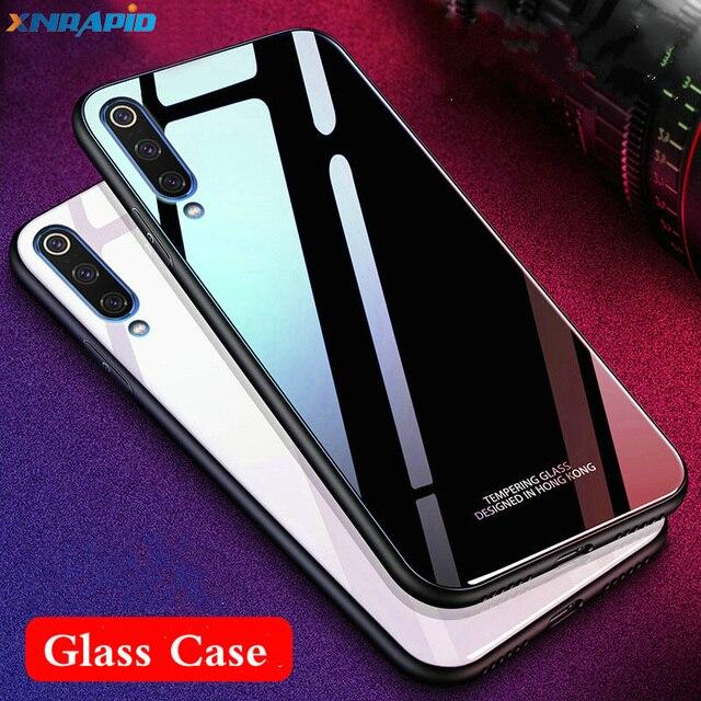 Tempered Glass Case For xiaomi mi 9 se mi 9 global Case Soft Frame Hard Glass Back Cover For xiaomi  MI9 global Mi9se Shockproof