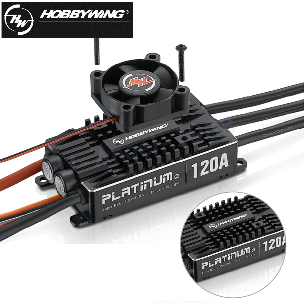 4pcs Original Hobbywing Platinum Pro V4 120A 3-6S Lipo BEC Empty Mold Brushless ESC for RC Drone Aircraft Helicopter hobbywing seaking pro 160a 120a waterproof brushless esc electric speed control with bec for rc boat