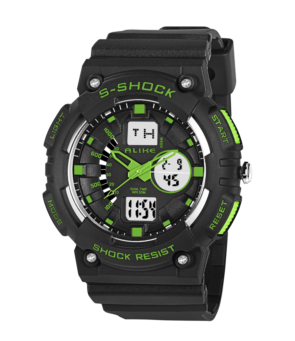 2017 Luxury Brand Men Military Sports Waterproof Watch LED  Dual Time Digital Wristwatches Rubber Strap Relogio Masculino