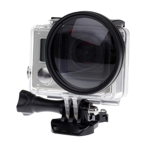 Image 5 - For Gopro 4/3+ Filter 52mm Close up +10 Macro Lens Adapter Ring for gopro Hero 4/3+/3 waterproof case  Glass Accessories