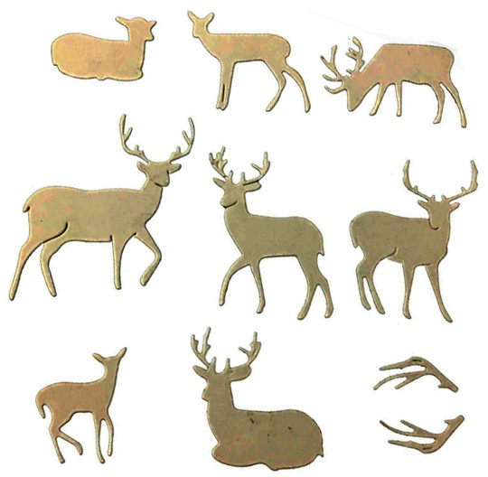 DIY Elk Deer Border Cutting Dies Embossing Mold Scrapbooking Decor Crafts