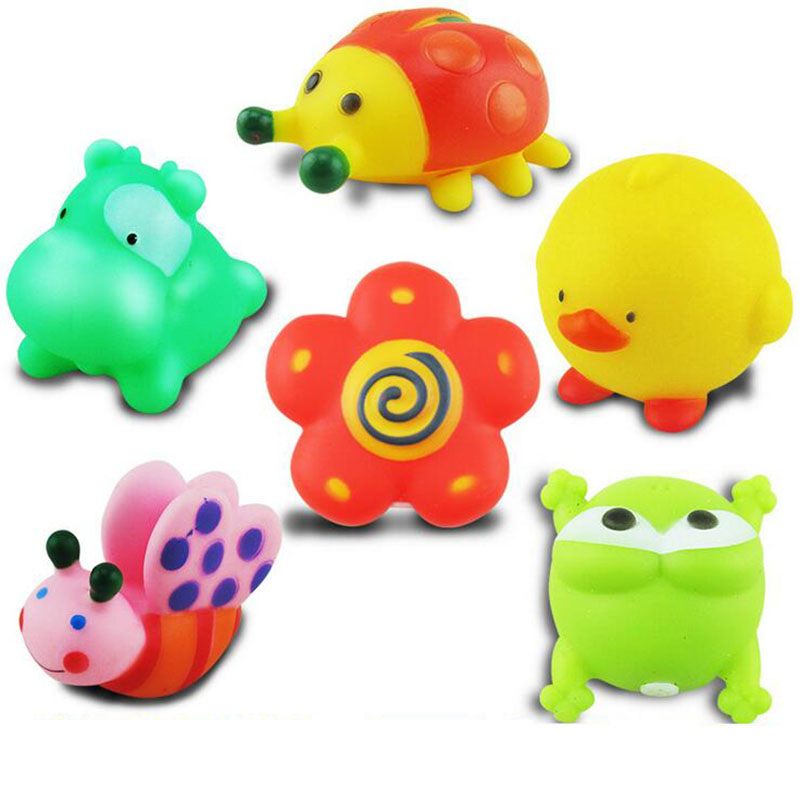 Etonnant 25 Pieces/Set Baby Shower Toy Animals Rubber Duck Float Sound Bathing  Outdoor Toy Water Floating Squeaky Action Figure Sand Toys In Bath Toy From  Toys ...