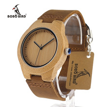 Bobo bird movimento japão amantes de quartzo vestido relógios de madeira natural artesanal de madeira legal relógios de pulso com faixas de couro real