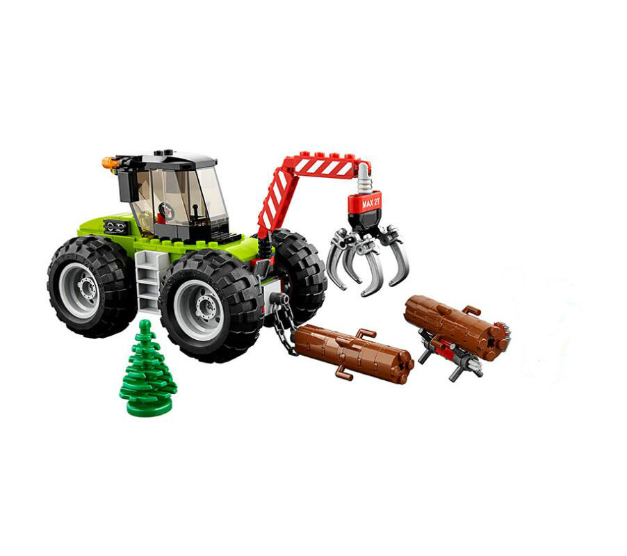 Lepin 02092 City Forest Tractor Building Block DIY Educational Toys Compatible Legoe 60181 Toys For Children birthday gift joy joytown j25590 city football field model building block 251pcs diy educational toys for children compatible legoe