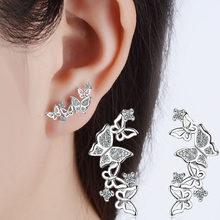 Boucles d'oreilles papillon en argent sterling 925, bijoux Anti-allergie, cadeau pour femmes