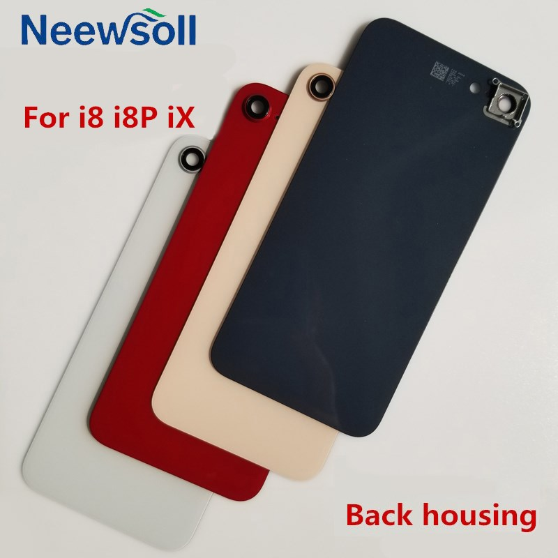 For iPhone 8 8P X Battery Cover Glass Panel Rear Door Housing Case With Camera